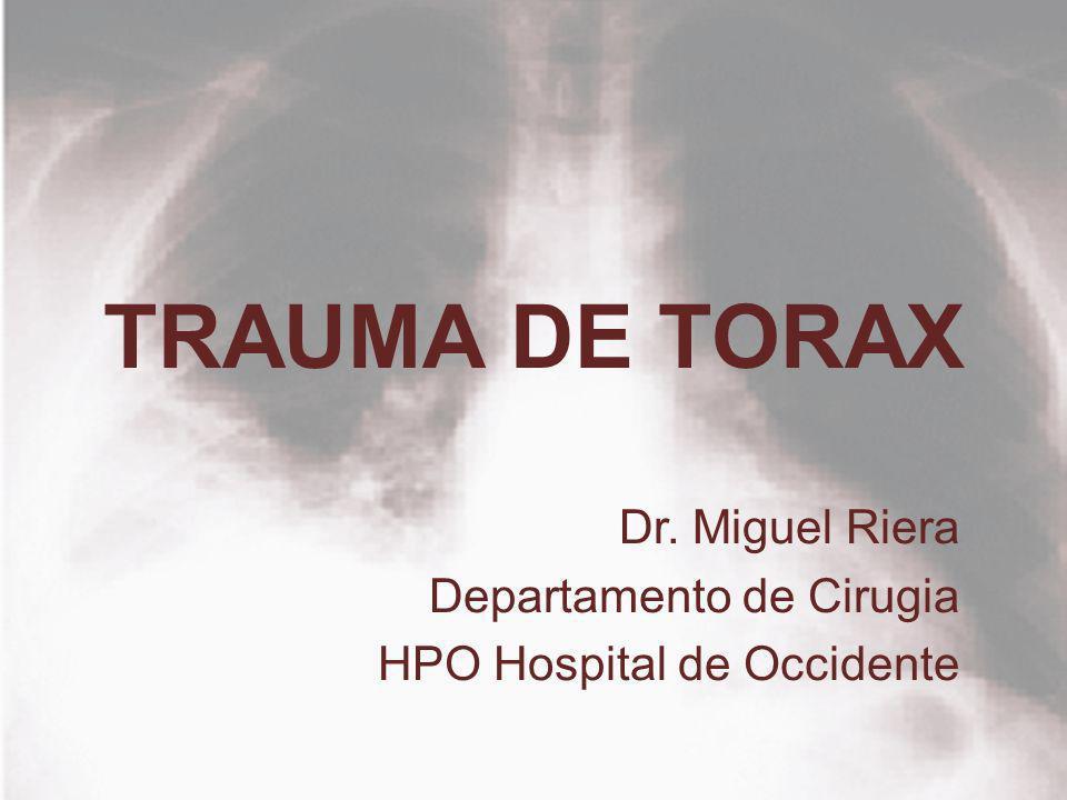 Dr. Miguel Riera Departamento de Cirugia HPO Hospital de Occidente