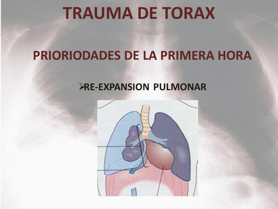 PRIORIODADES DE LA PRIMERA HORA RE-EXPANSION PULMONAR