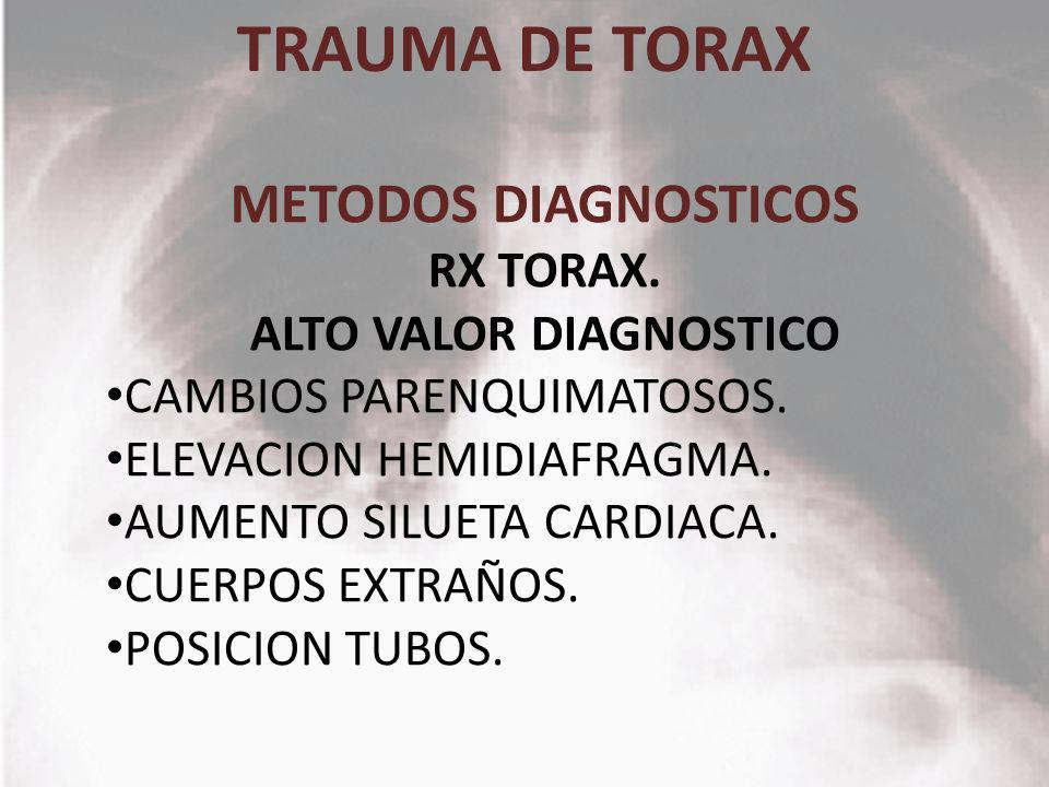 ALTO VALOR DIAGNOSTICO