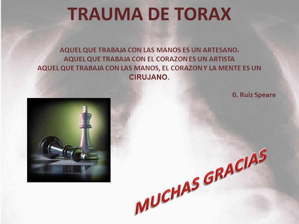 MUCHAS GRACIAS TRAUMA DE TORAX