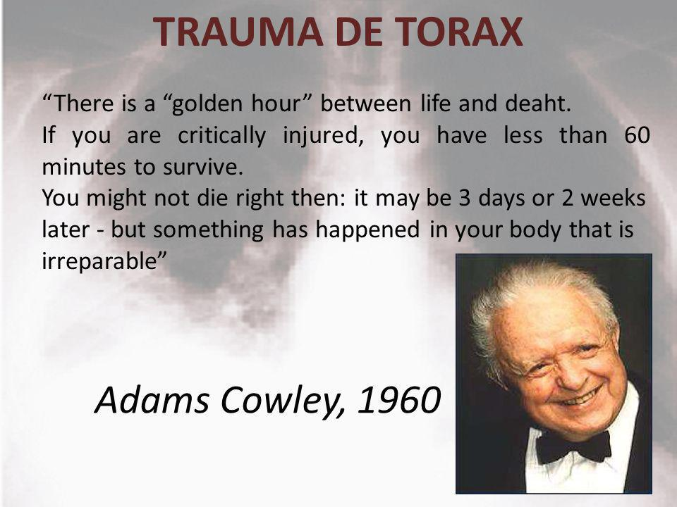 TRAUMA DE TORAX Adams Cowley, 1960