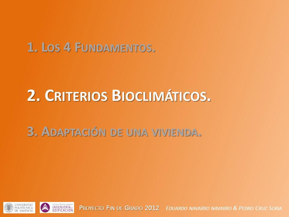 2. Criterios Bioclimáticos.