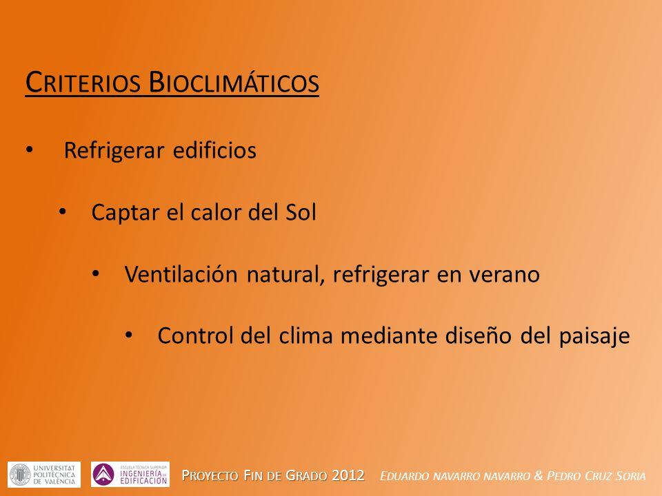 Criterios Bioclimáticos