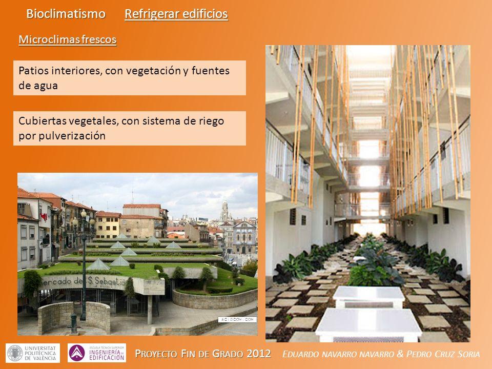 Bioclimatismo Refrigerar edificios