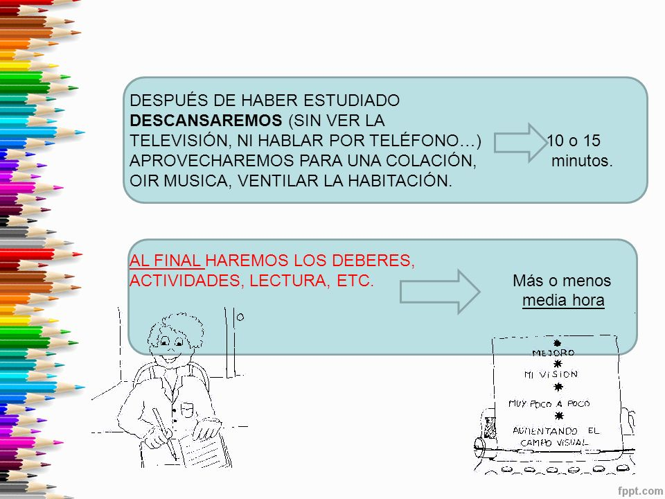DESPUÉS DE HABER ESTUDIADO