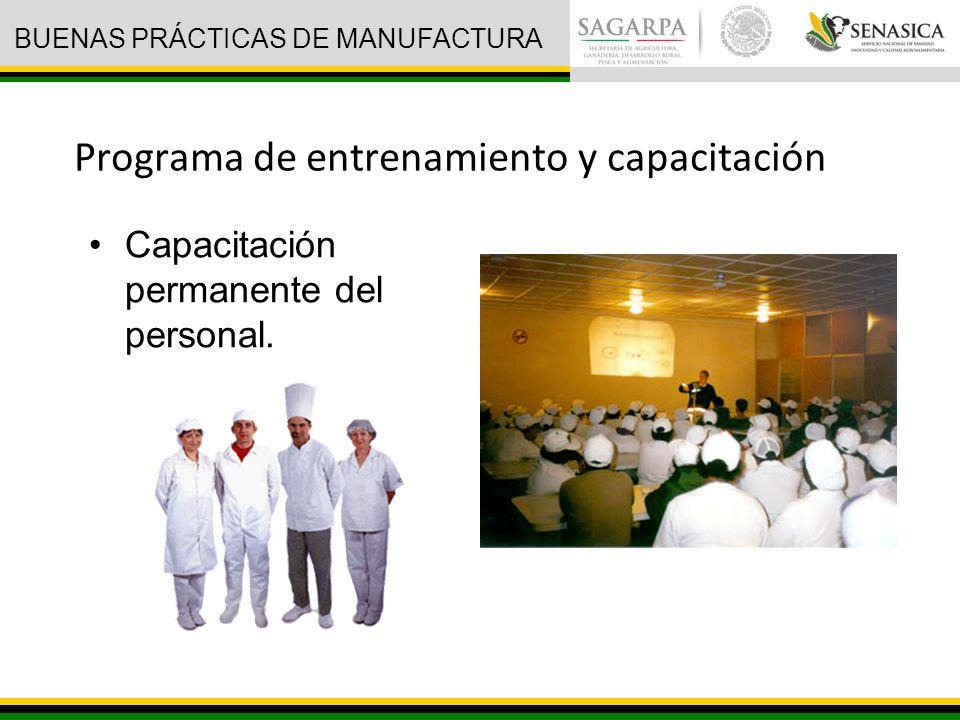 Programa de entrenamiento y capacitación