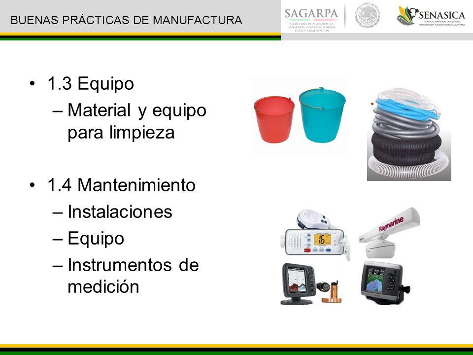 Material y equipo para limpieza