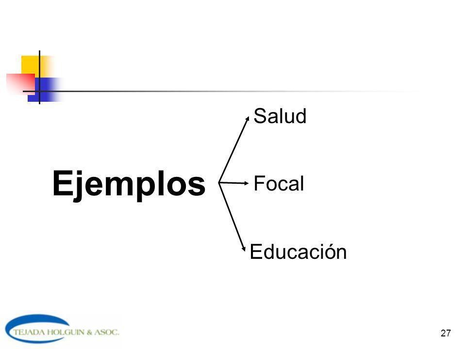 Salud Ejemplos Focal Educación