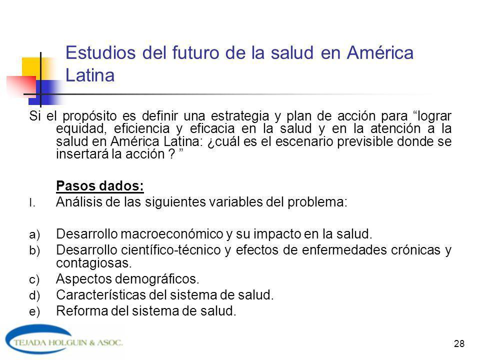 Estudios del futuro de la salud en América Latina