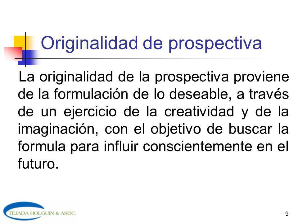 Originalidad de prospectiva