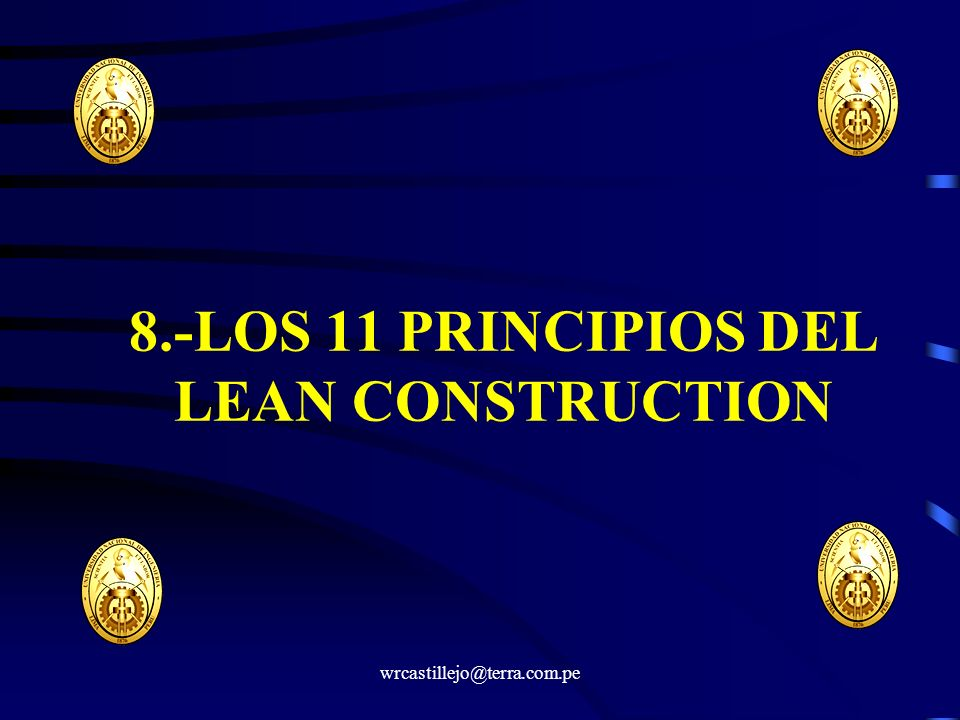 8.-LOS 11 PRINCIPIOS DEL LEAN CONSTRUCTION