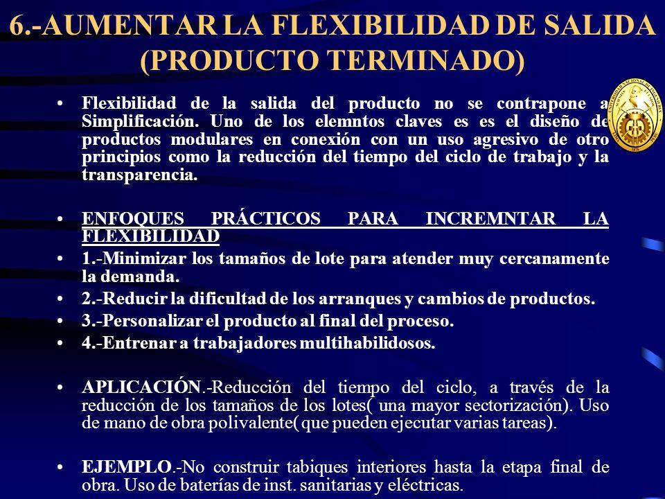 6.-AUMENTAR LA FLEXIBILIDAD DE SALIDA (PRODUCTO TERMINADO)