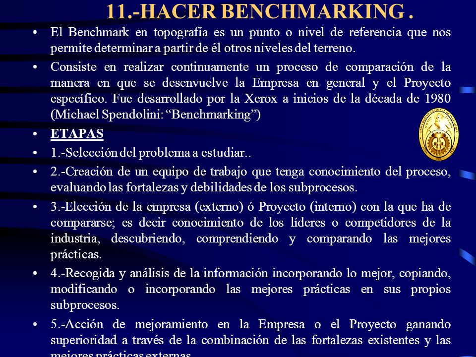 11.-HACER BENCHMARKING .