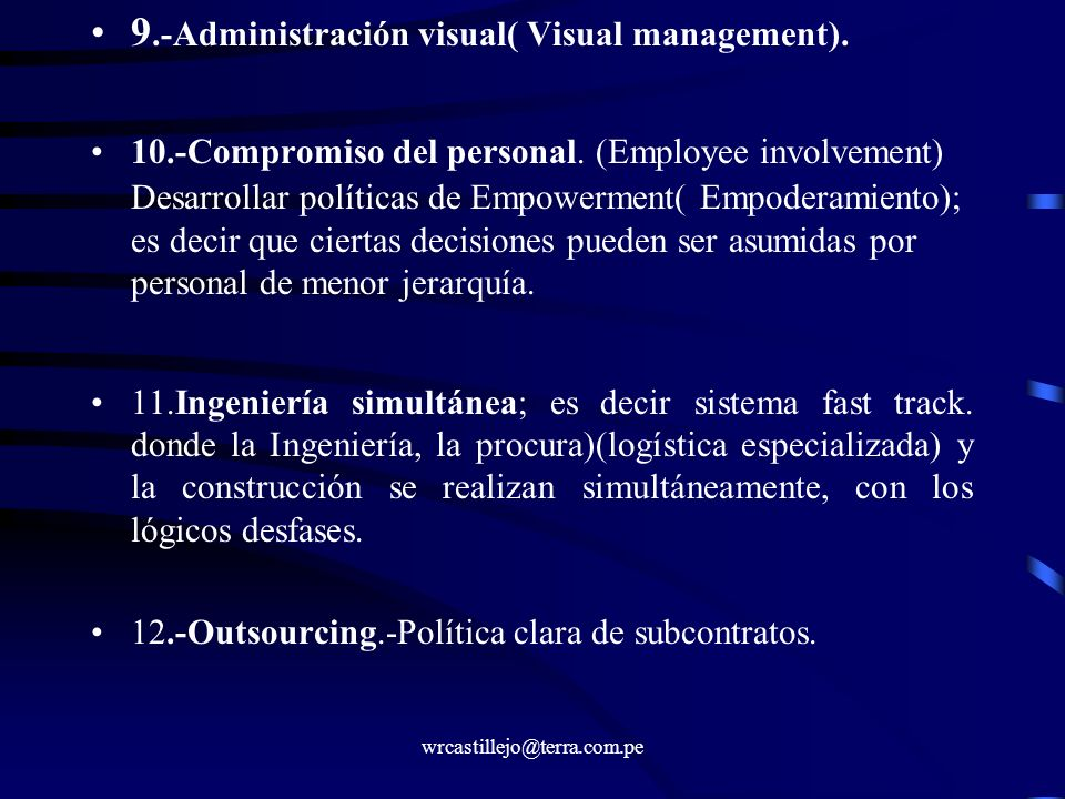 9.-Administración visual( Visual management).