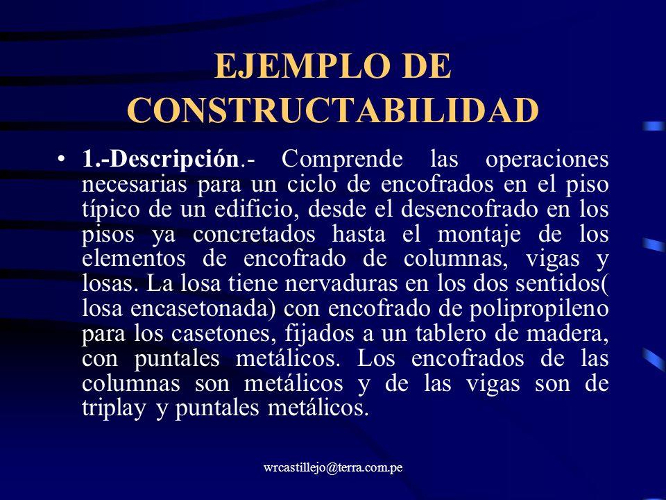 EJEMPLO DE CONSTRUCTABILIDAD