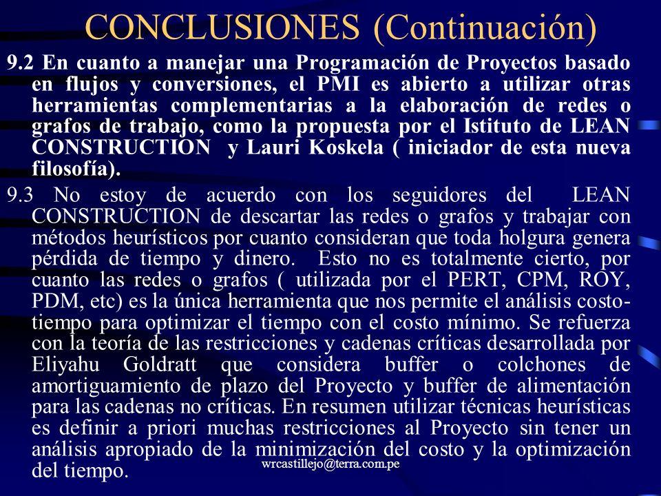 CONCLUSIONES (Continuación)