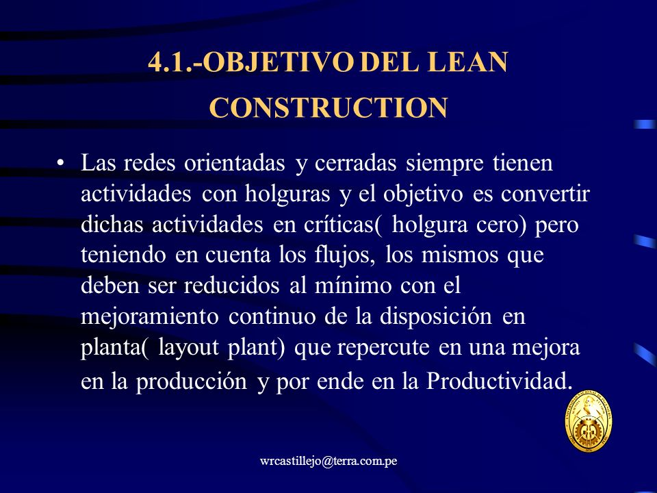4.1.-OBJETIVO DEL LEAN CONSTRUCTION