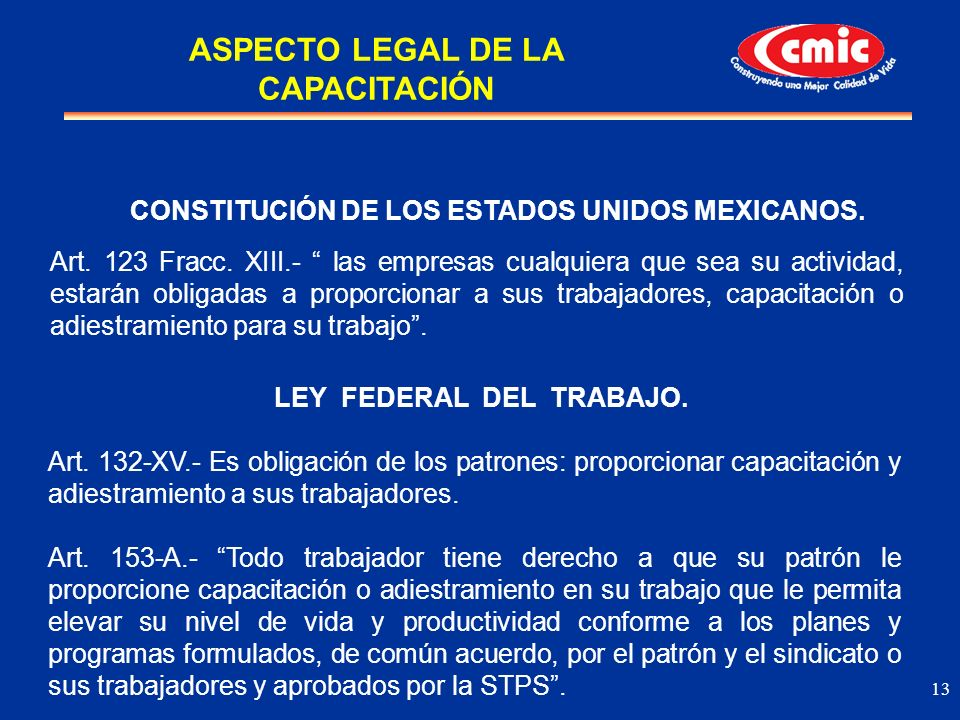 ASPECTO LEGAL DE LA CAPACITACIÓN