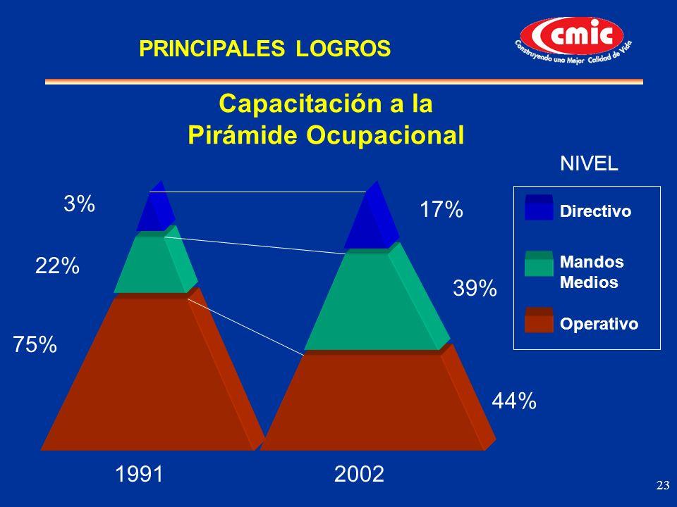Capacitación a la Pirámide Ocupacional