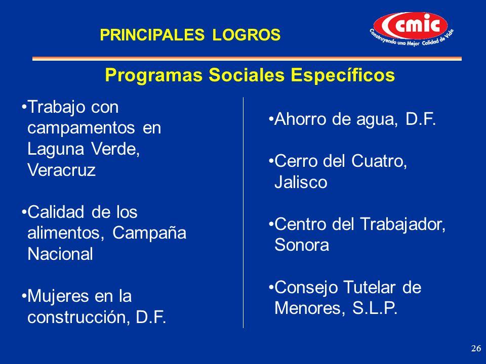 Programas Sociales Específicos