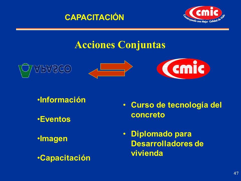 Acciones Conjuntas CAPACITACIÓN Información