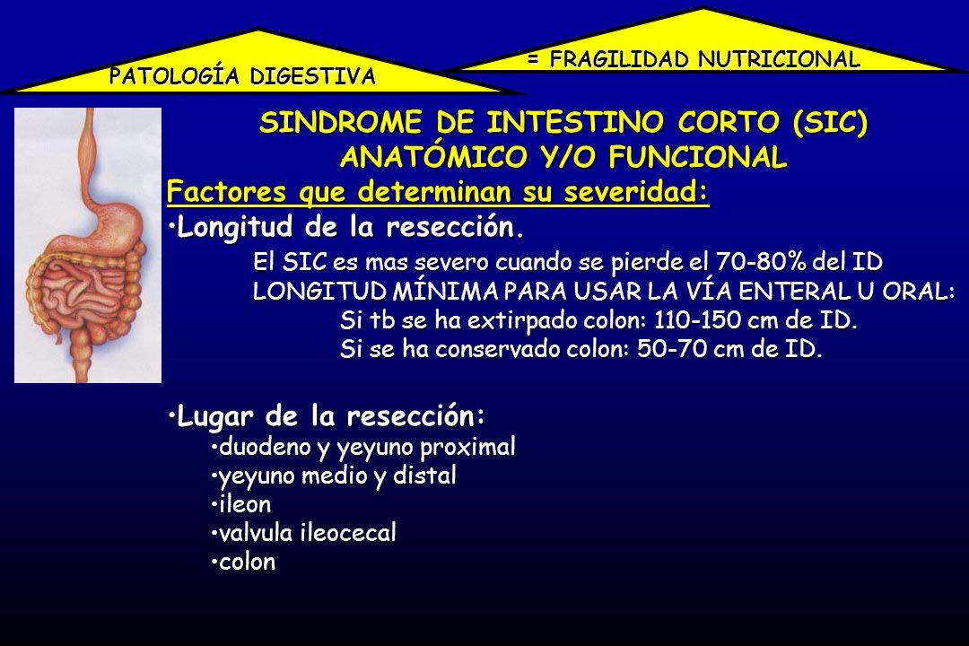 SINDROME DE INTESTINO CORTO (SIC) ANATÓMICO Y/O FUNCIONAL