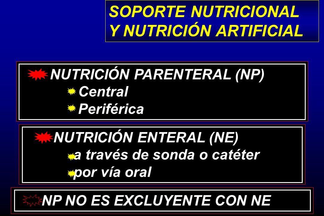Y NUTRICIÓN ARTIFICIAL