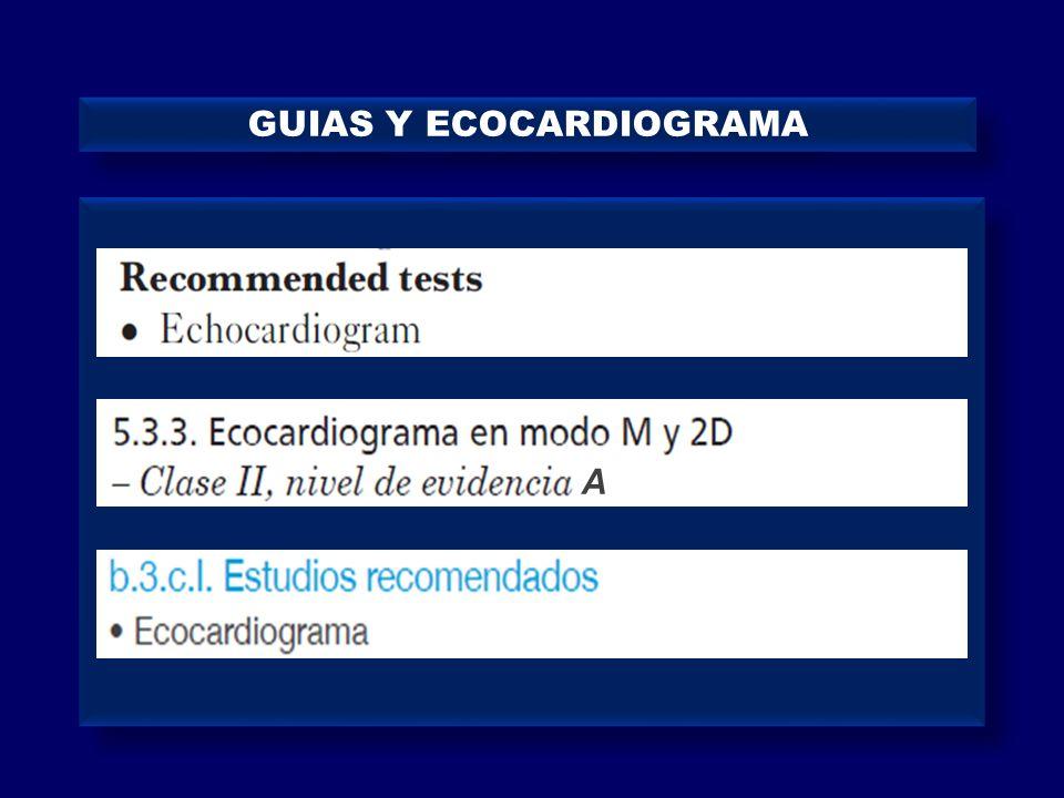 GUIAS Y ECOCARDIOGRAMA
