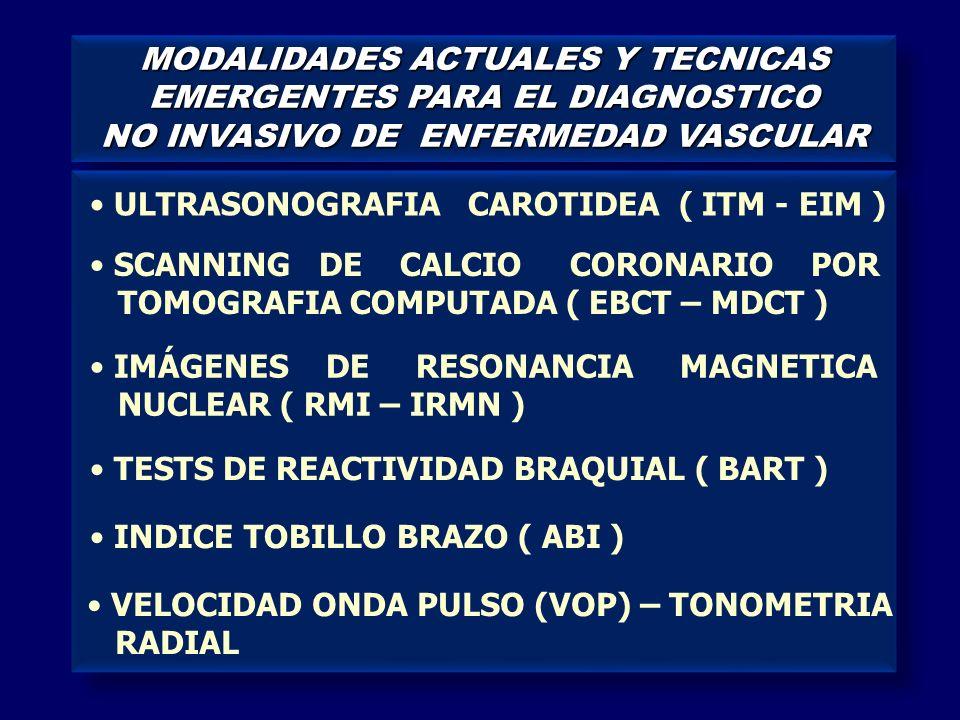 MODALIDADES ACTUALES Y TECNICAS EMERGENTES PARA EL DIAGNOSTICO