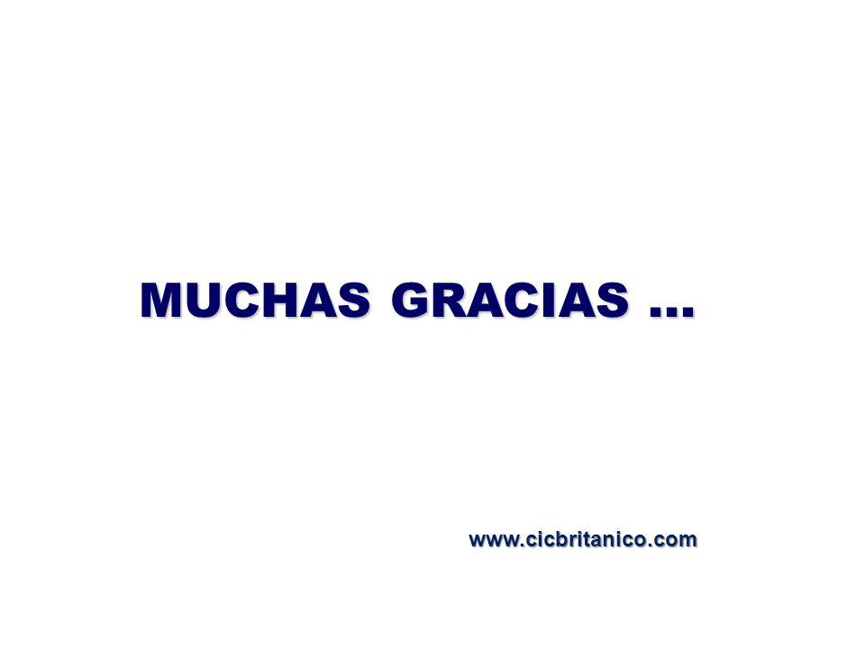 MUCHAS GRACIAS ... www.cicbritanico.com