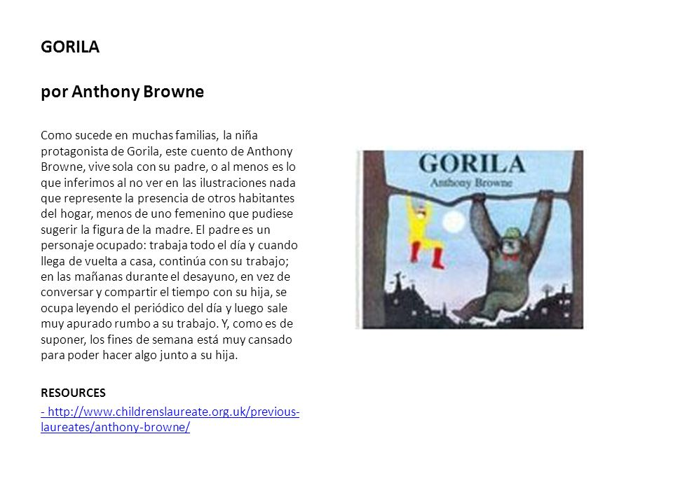 GORILA por Anthony Browne