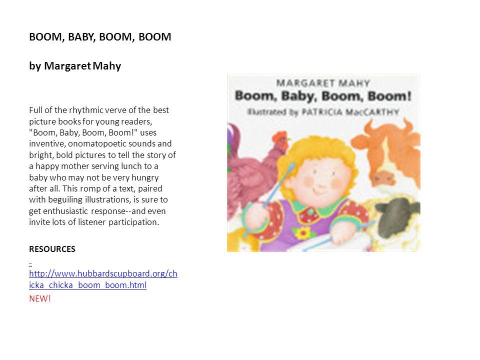 BOOM, BABY, BOOM, BOOM by Margaret Mahy