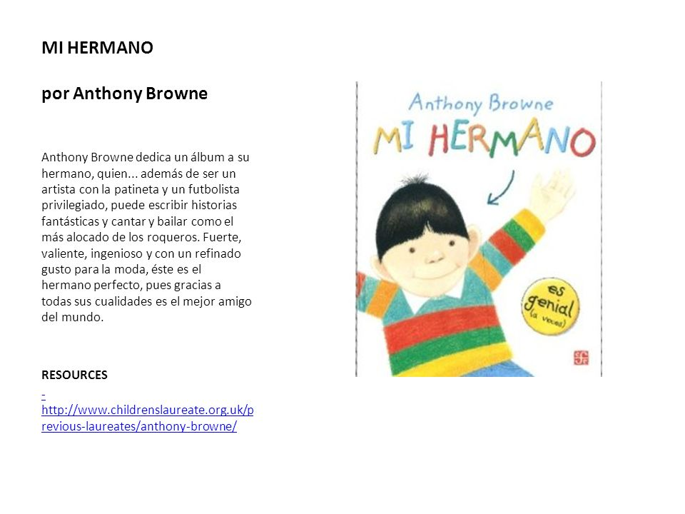 MI HERMANO por Anthony Browne