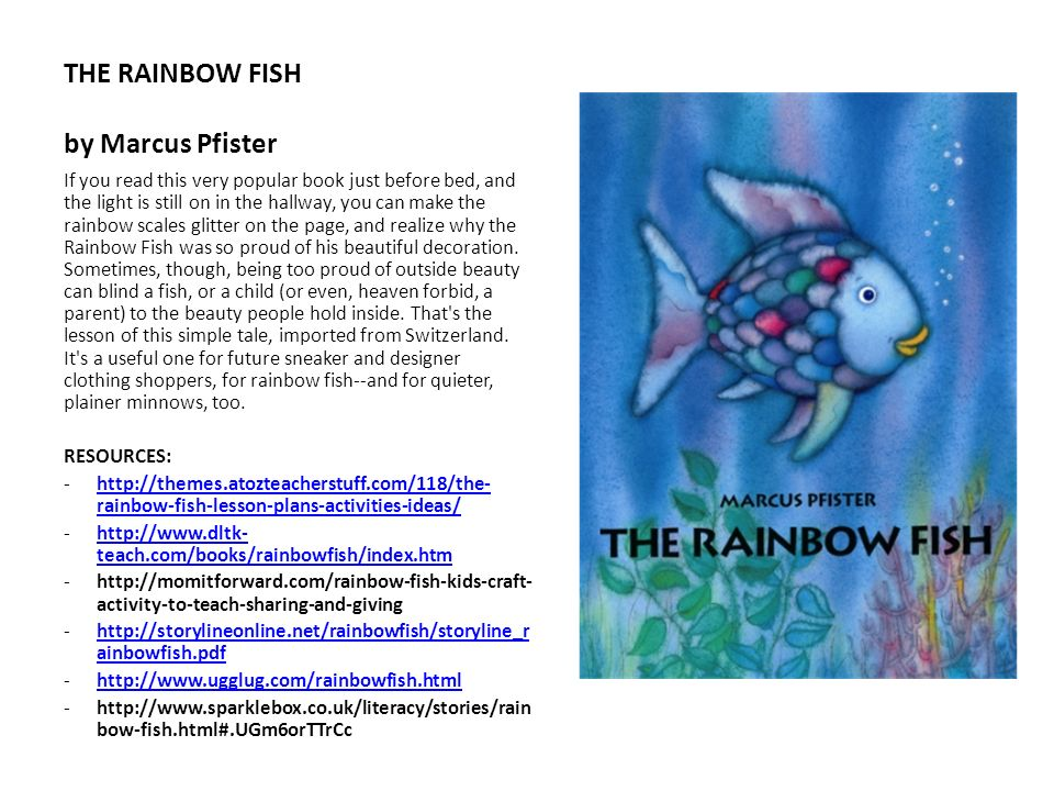 THE RAINBOW FISH by Marcus Pfister