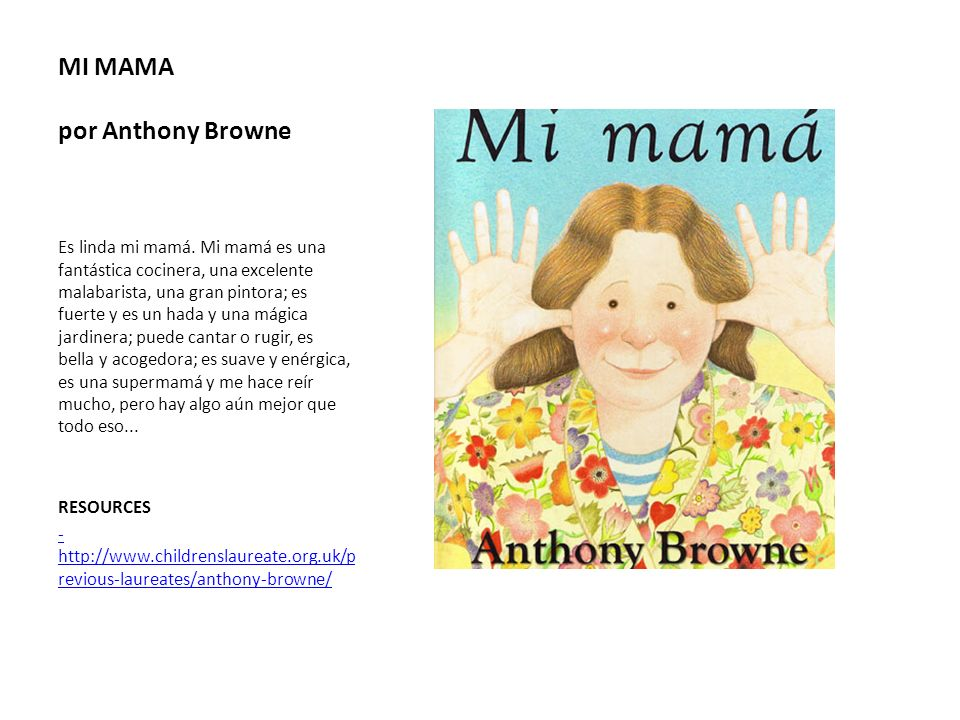 MI MAMA por Anthony Browne