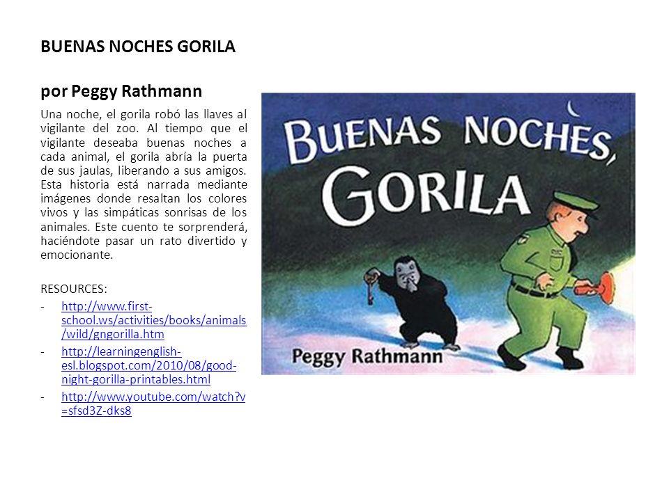 BUENAS NOCHES GORILA por Peggy Rathmann