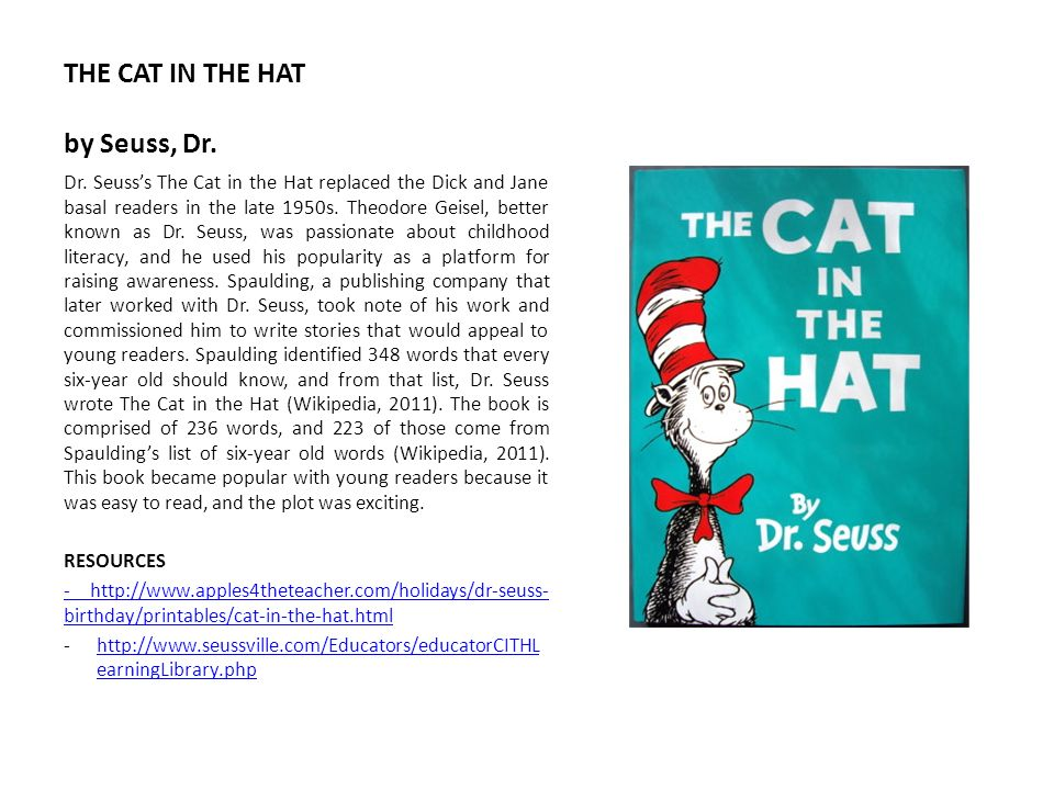 THE CAT IN THE HAT by Seuss, Dr.