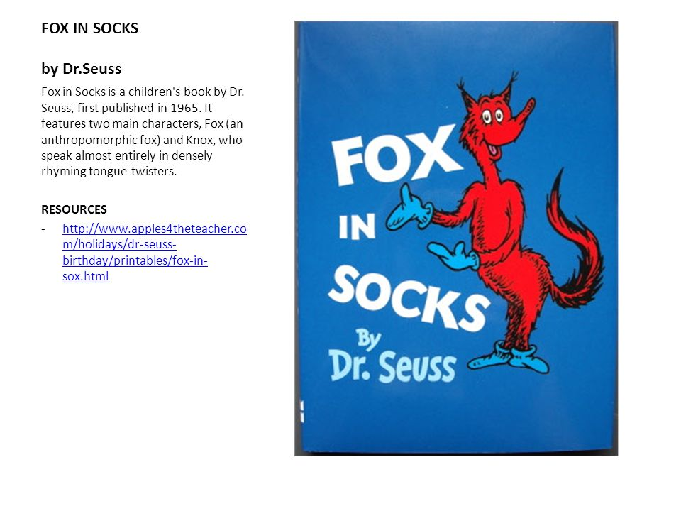 FOX IN SOCKS by Dr.Seuss