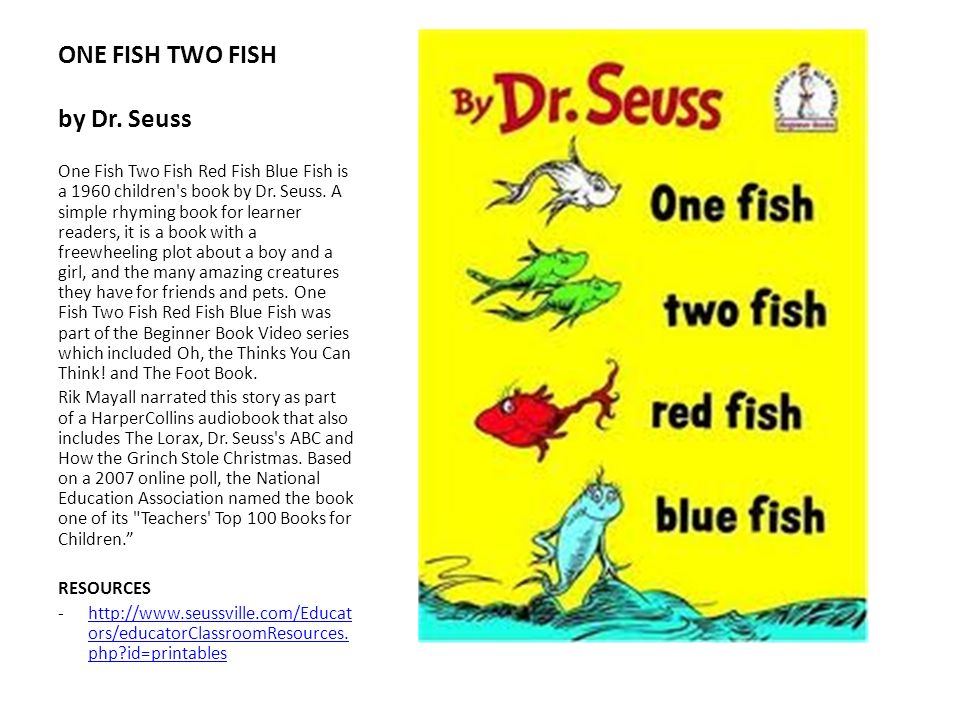 ONE FISH TWO FISH by Dr. Seuss