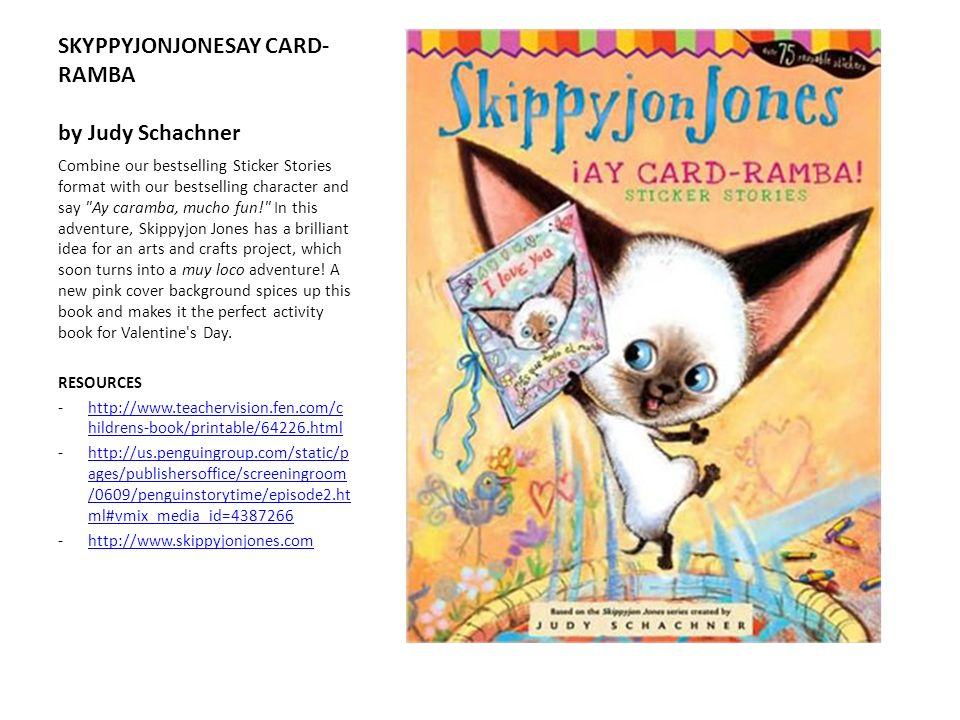 SKYPPYJONJONESAY CARD-RAMBA by Judy Schachner