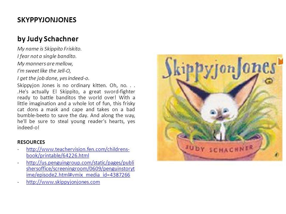 SKYPPYJONJONES by Judy Schachner