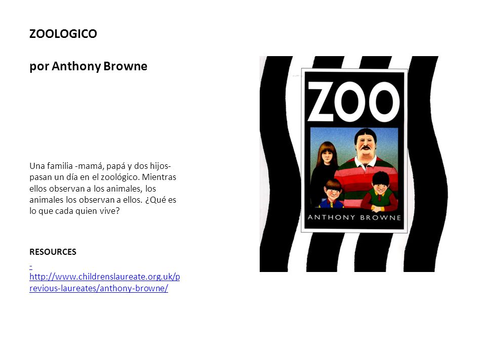ZOOLOGICO por Anthony Browne