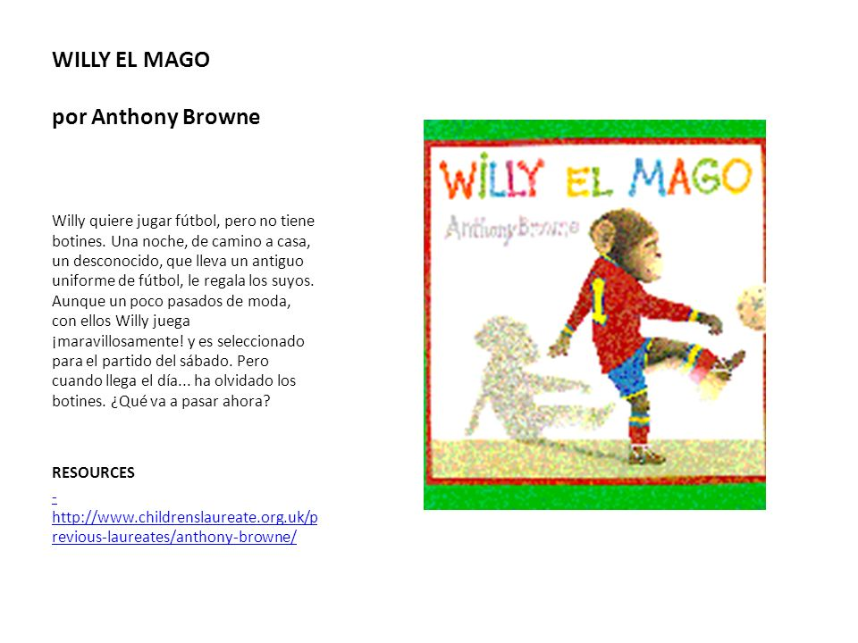 WILLY EL MAGO por Anthony Browne