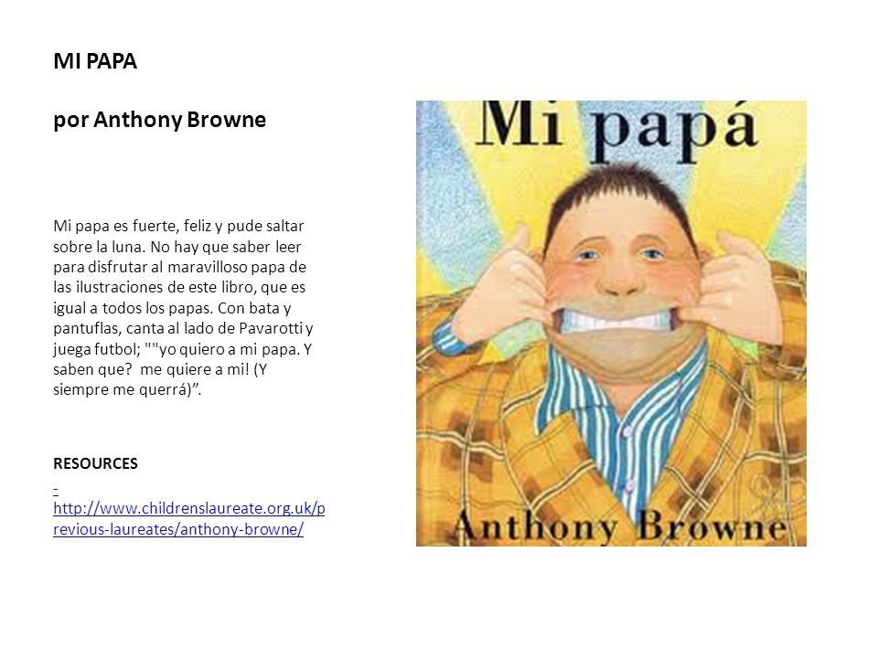 MI PAPA por Anthony Browne