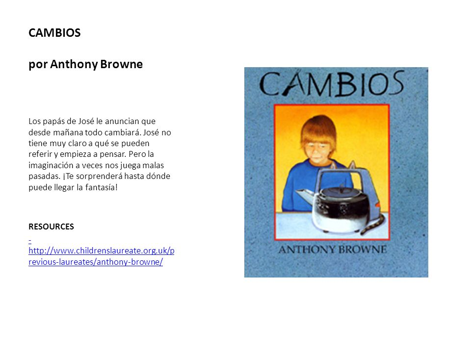 CAMBIOS por Anthony Browne