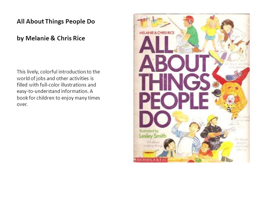 All About Things People Do by Melanie & Chris Rice