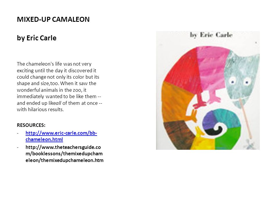 MIXED-UP CAMALEON by Eric Carle