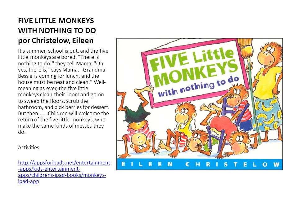 FIVE LITTLE MONKEYS WITH NOTHING TO DO por Christelow, Eileen