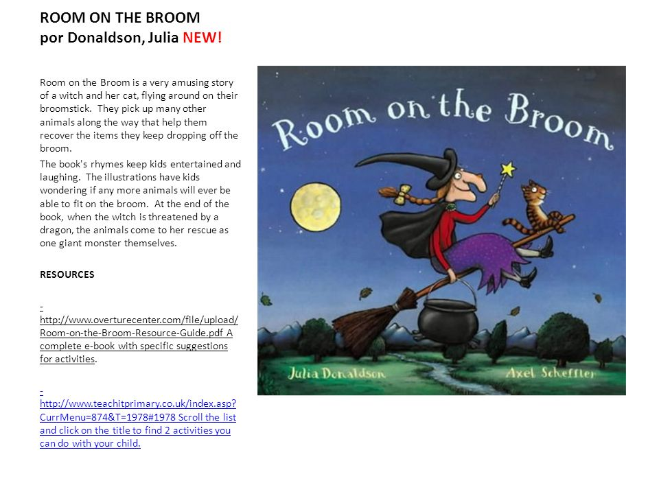ROOM ON THE BROOM por Donaldson, Julia NEW!