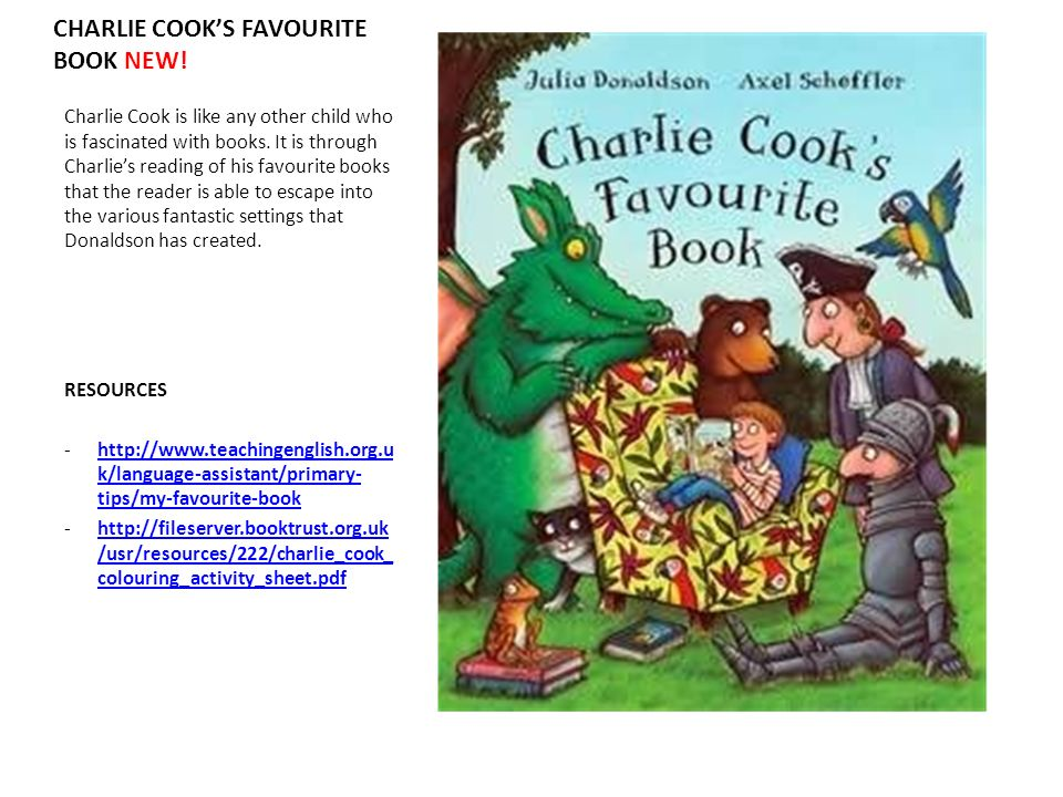 CHARLIE COOK'S FAVOURITE BOOK NEW!